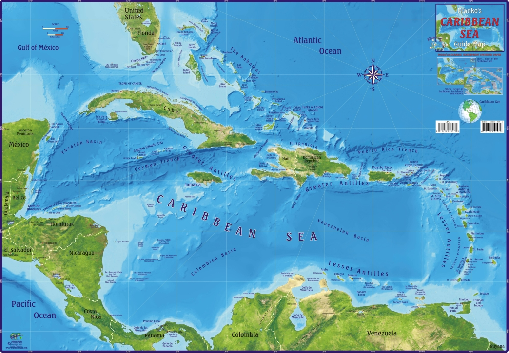 Caribbean Water Depth Map BLOGDOSKMMA - Water depth map